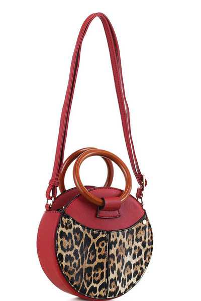 LEOPARD STYLISH CIRCLE CROSSBODY BAG