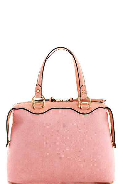 2in1 Cute Soft Vegan Leather Satchel with Matching Wallet