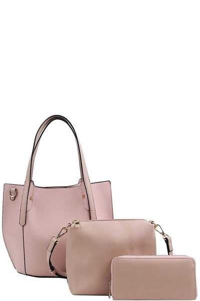 3in1 Designer Elegance Tote With Long Strap