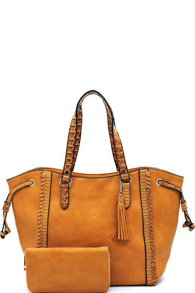 Croc Trimmed 2-in-1 Shopper