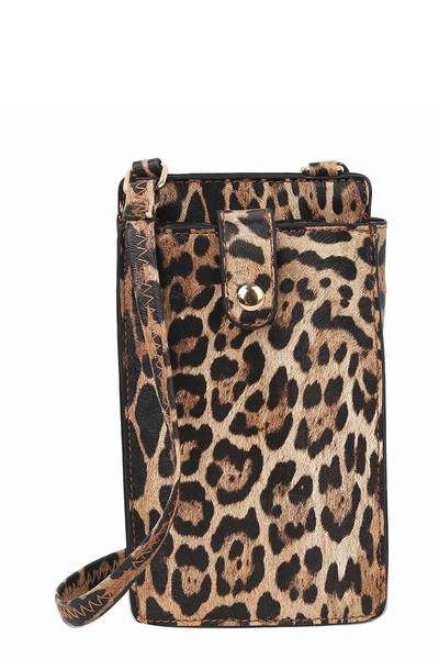 Leopard Crossbody Bag Cell Phone Purse