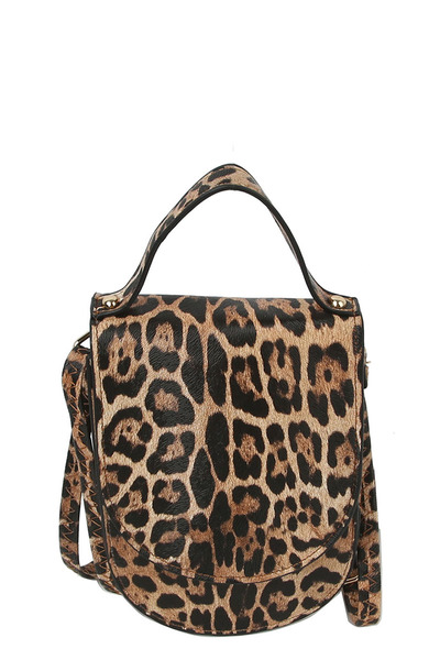 Leopard Top Flap Crossbody Bag Cell Phone Purse