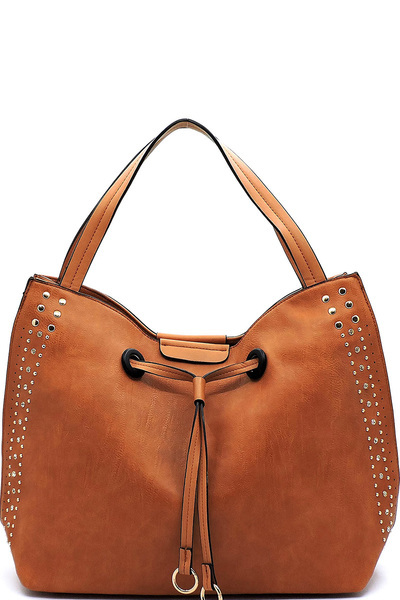 Stone Studded Shoulder Bag