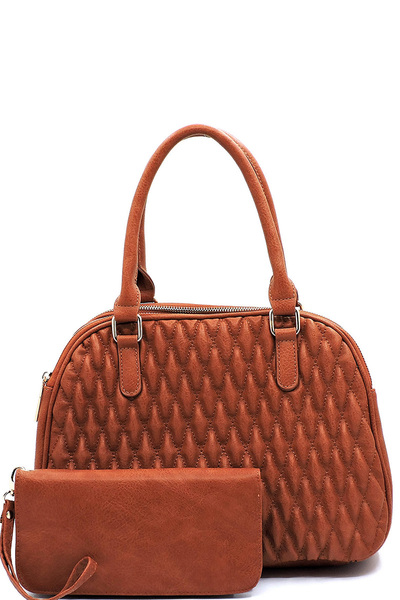 Quilted Multi Compartment 2-in-1 Satchel