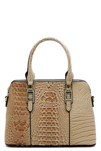 Croc Alligator Dome Satchel