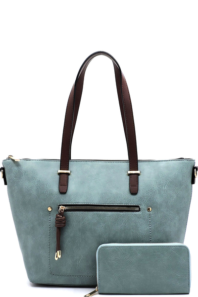 Fashion Front Zip Pocket 2-in-1 Shopper
