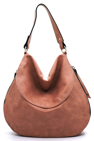 Fashion Flap Zipper Shoulder Bag Hobo
