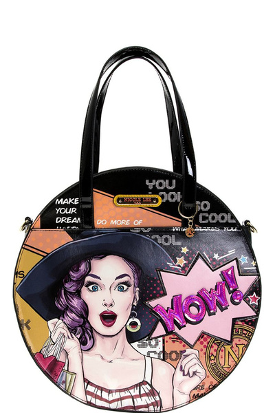 NICOLE LEE POP ART CIRCLE HANDBAG