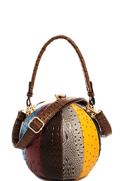 Fashion Faux Leather Ostrich Handbag