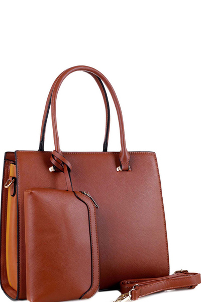 Color Block Side 2 in 1 Structured Satchel