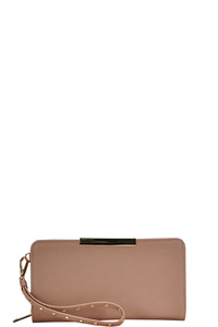 FASHION CHIC STYLISH WALLET CLUTCH WITH WRISTLET