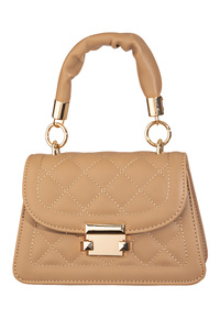 Faux Leather Quilted Hand Bag