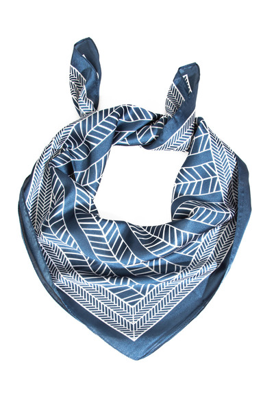 Chevron Stripe Pattern Square Scarf