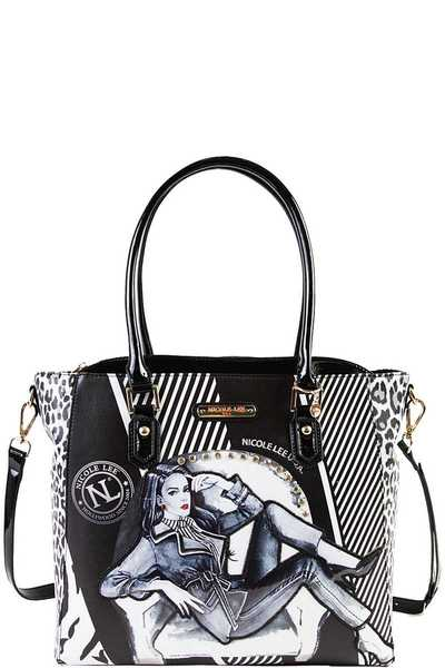 Nicole Lee PRINTED SHOPPER BAG