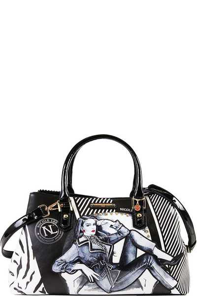 Nicole Lee PRINTED SATCHEL BAG