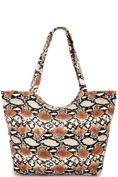 FASHION TRENDY LEOPARD PRINT TOTE BAG