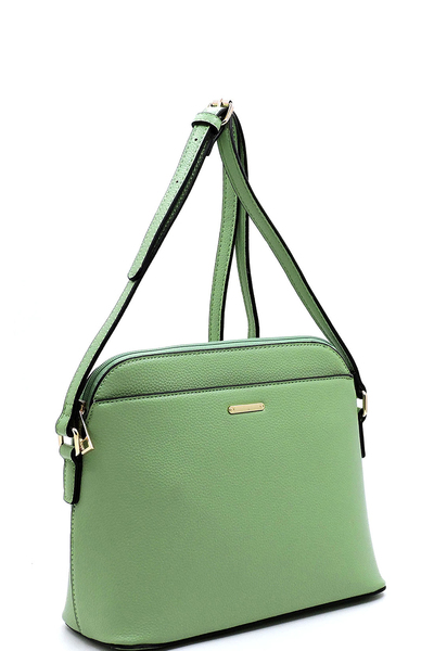 Fashion Front Pocket Dome Crossbody Bag