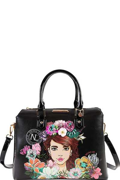 Nicole Lee FLORAL BOSTON BAG