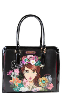 NICOLE LEE FLORAL BRIEFCASE