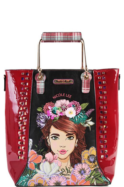 NICOLE LEE FLORAL TOTE BAG