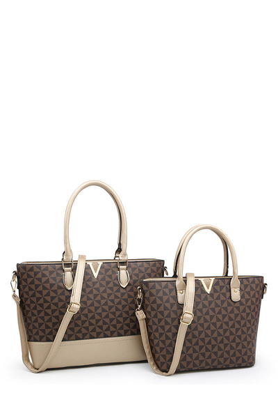 Monogrammed V Accent 2-in-1 Satchel