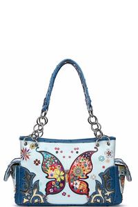 Western Butterfly 2-IN-1 Shoulder Bag