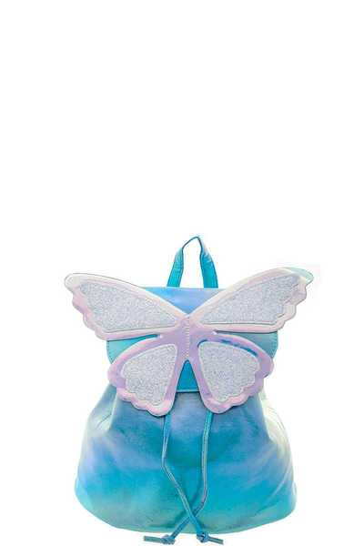 CUTE SPARKLY HOLO COLORED BUTTERFLY BACKPACK