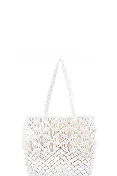 PLAIN STRING DESIGN TOTE BAG