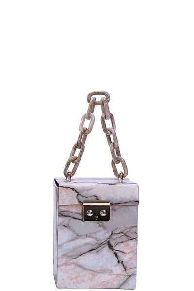 MARBLING BOX MINI FASHION BAG