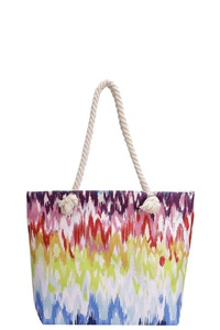 RAINBOW COLOR CANVAS TOTE BAG