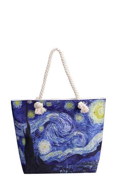 NIGHT VIEW CANVAS TOTE BAG