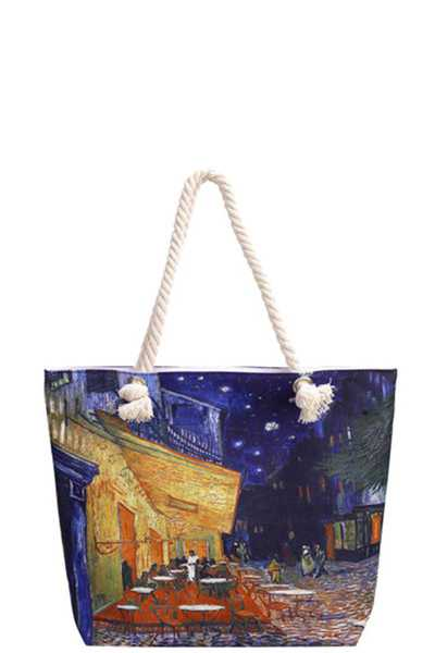 NIGHT MOOD CANVAS TOTE BAG