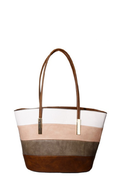 Leather Double Handle Tote Bag