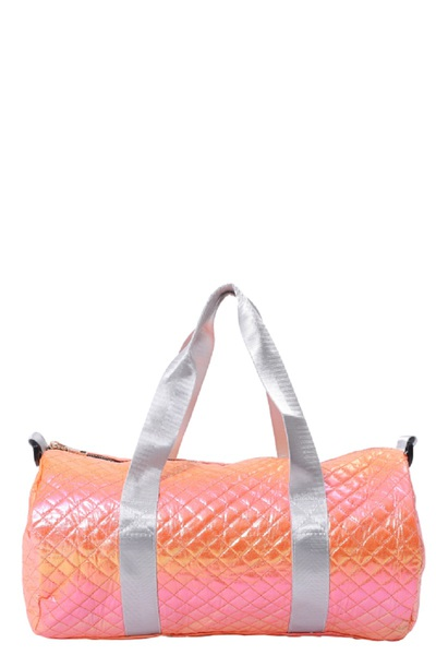 Quilted Glossy Duffle Bag