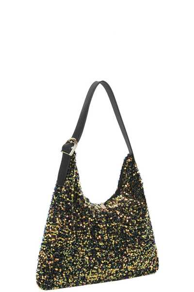 FASHION FULL MULTI SEQUIN COLOR SHOULDER HOBO BAG