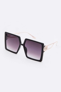 Oversize Square Sunglasses Set
