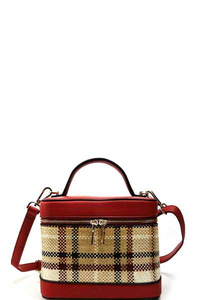 CUTE MODERN CHECK STRUCTURED CROSSBODY BAG