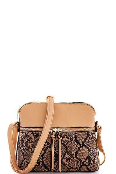 TRENDY CUTE SNAKE PATTERN CROSSBODY BAG