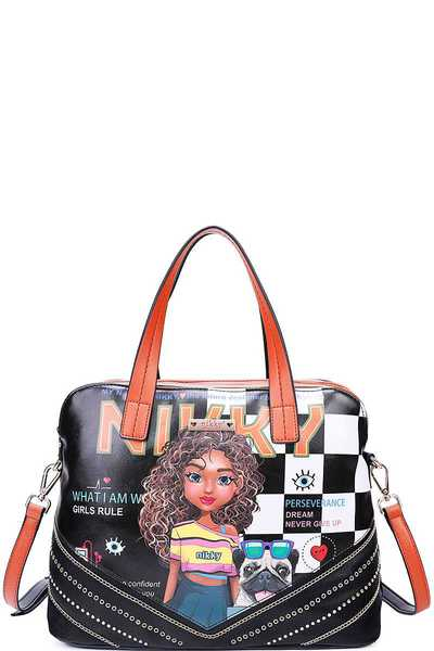 Nikky by Nicole Lee SASHA THE CUTIE SATCHEL BAG