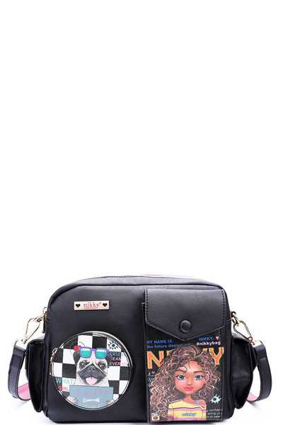 Nikky by Nicole Lee SASHA THE CUTIE MESSENGER BAG