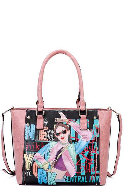 Nikky by Nicole Lee VICKY DOES SPORTS TOTE BAG
