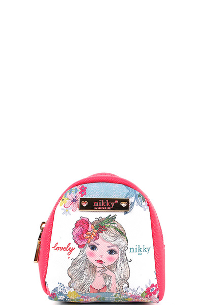 NICOLE LEE NIKKY ESPERANZA MINI BACKPACK KEYCHAIN
