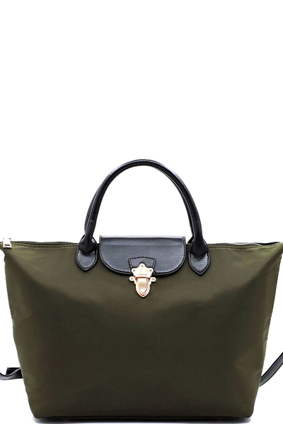 Nylon Large Shoulder Satchel