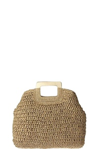 FASHION TOP HANDLE STRAW DAY TOTE BAG