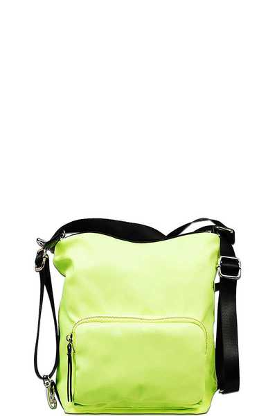DESIGNER TRENDY CANVAS CONVERTIBLE BACKPACK OR CROSSBODY BAG