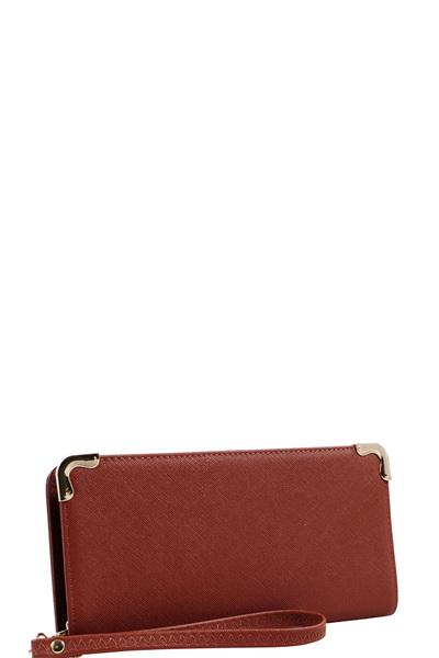 Saffiano Zip-Around Wristlet Wallet