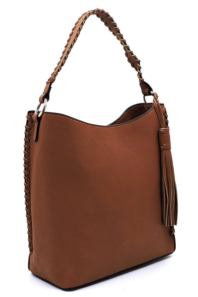 Fashion Pebbled Large Bucket Satchel