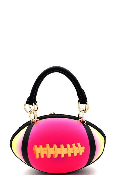 Unique Football Theme Multicolored Novelty 2-Way Satchel