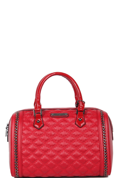 Nicole Lee Quilted Chain Boston Bag