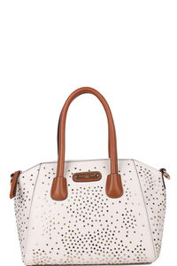 Nicole Lee Zena Studded Satchel Bag